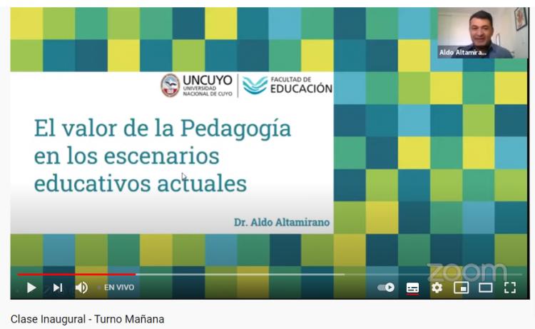 """Aldo Altamirano estuvo al frente de la charla """"El valor de la Pedagogía en los escenarios educativos actuales"""""""