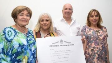 Mgter. Jovita Kemelmajer Roitman: Profesora Honoraria de la UNCUYO