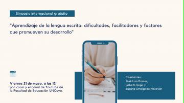 Realizarán un simposio internacional sobre el aprendizaje de la lengua escrita
