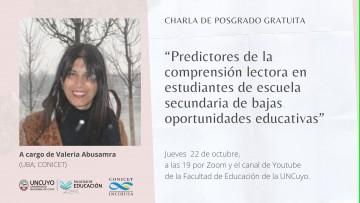 Continúa ciclo de posgrado sobre Lenguaje con conferencia sobre comprensión lectora