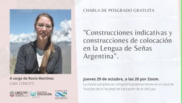 Llega el turno de la Lengua de Señas Argentina al Ciclo de posgrado sobre Lenguaje
