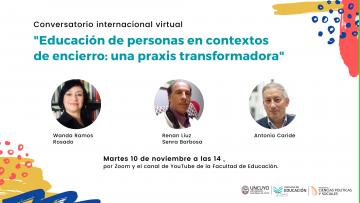 Especialistas internacionales disertarán sobre educación en contextos de encierro