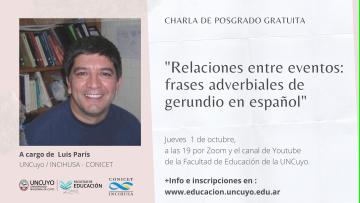 Ciclo de posgrado sobre Lenguaje continúa con Luis París