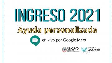 Brindarán ayuda online para aspirantes al Ingreso 2021