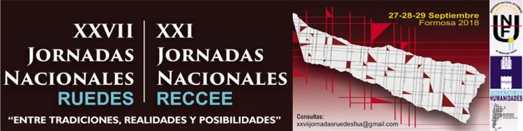 Invitan a las XXVII Jornadas Nacionales de RUEDES y las XXI Jornadas Nacionales de RECCEE