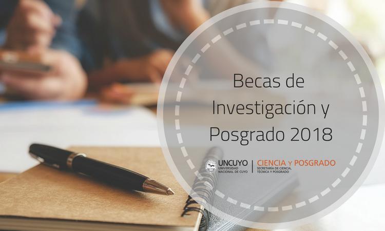 Becas de investigación y posgrado SECTYP 2018: hasta el 31 de julio