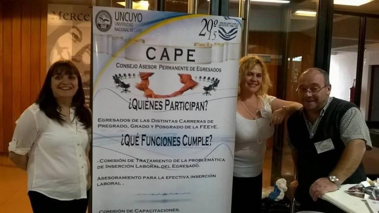 El CAPE  estuvo presente en el Primer Encuentro Anual de Egresados de la UNCUYO