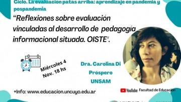 Seguí en vivo la conferencia de Carolina Di Próspero