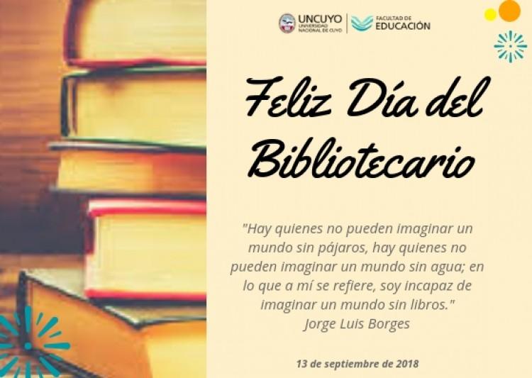 Tarjeta de salutación para nuestros bibliotecarios y bibliotecarias.