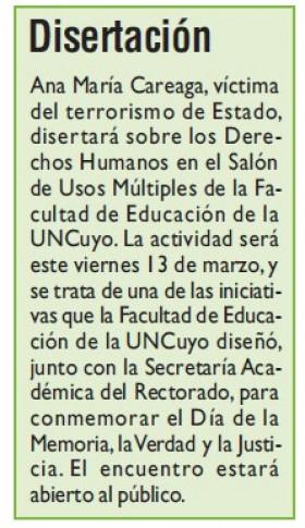 Diario Jornada | 11 de marzo de 2020 | Edición Papel | Disertación