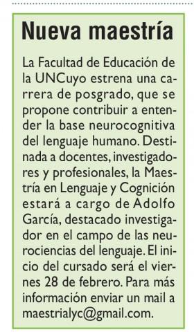 Diario Jornada | 26 de febrero de 2020 | Edición Papel | Nueva Maestría