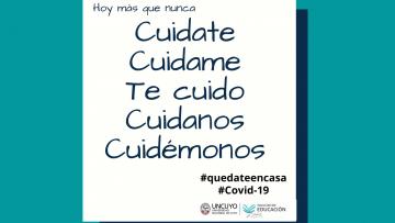 Mensaje sobre la situación sanitaria en Mendoza