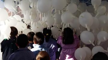 Estudiantes de la Facultad realizaron instalaciones artísticas de juegos para niños de la ECVA