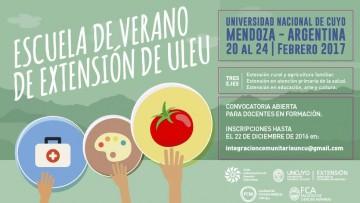 Invitan a postularse a la Escuela de Verano de Extensión Universitaria
