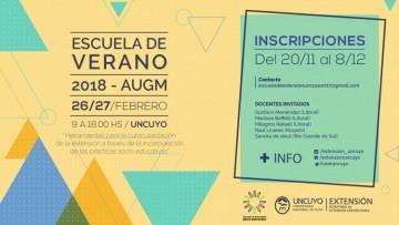 Inscriben a la Escuela de Verano 2018 AUGM