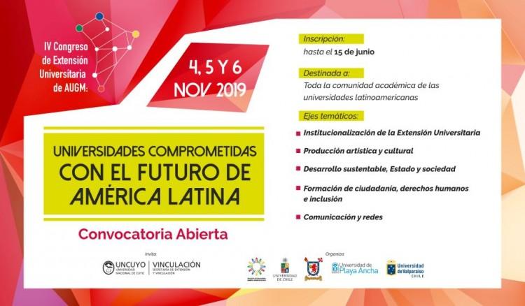 Invitan a participar de Congreso de Extensión de AUGM