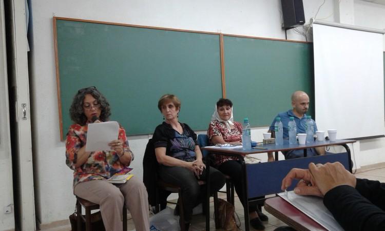De izq. a der.: Prof. Cecilia Tejón, Sra. Teresita Castrillejo, Sra. María Domínguez y Prof. Jorge Asso.