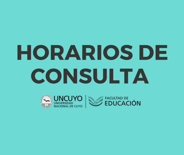 HORARIOS DE CONSULTA 2º Cuatrimestre 2018