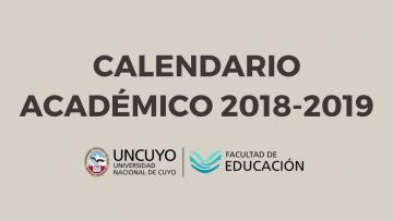 Ya se encuentra disponible el Calendario Académico 2018-2019