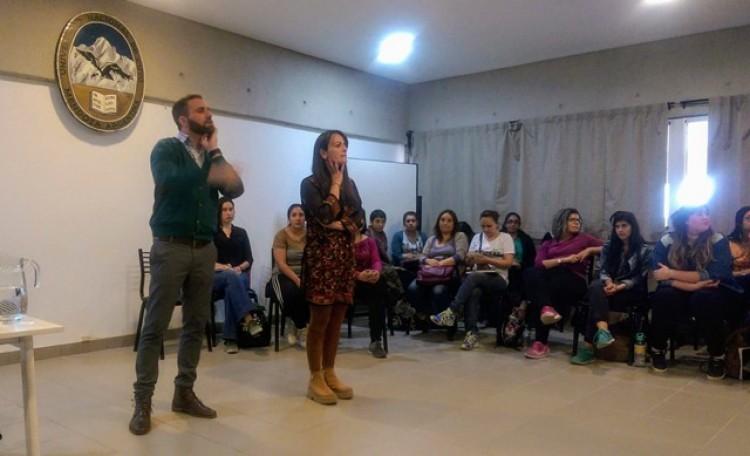 Fernando Daniel Huberman y la Profesora María Alejandra del Campo