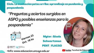 Seguí en vivo la conferencia de Gisela Schwartzman