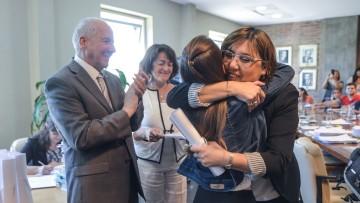 Julieta Riartes y Noelia Guaquinchay recibieron la distinción que recuerda a María Elisa Norton