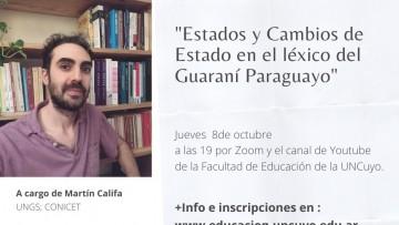 Ciclo de posgrado sobre Lenguaje sigue con Martín Califa