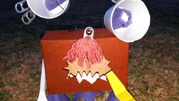 Estudiantes elaboraron esculturas sobre los monstruos de la pandemia