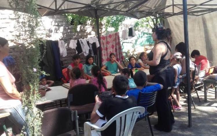 Realizan acompañamiento y apoyo escolar en un barrio popular de Guaymallén