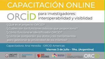 Ofrecen una capacitación online en ORCID