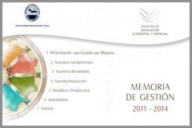 Memoria de Gestión 2011-2014