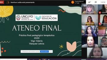 Doce estudiantes realizaron y concluyeron su práctica profesional pedagógico terapéutica completamente on line
