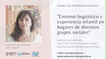 Ciclo de charlas de posgrado profundizarán sobre estudios del Lenguaje
