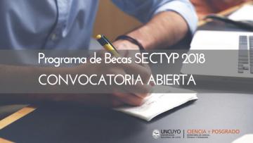 Convocatoria abierta Becas SECTYP 2018 para estudiantes de posgrado
