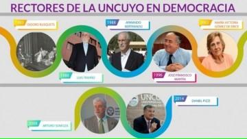 Un especial interactivo recorre las gestiones de rectores de la UNCuyo en democracia
