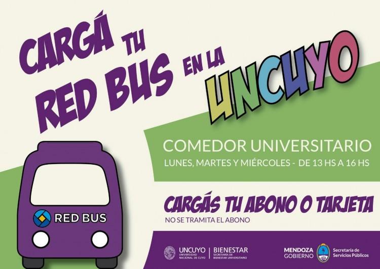 Recargas de Red Bus en la UNCUYO