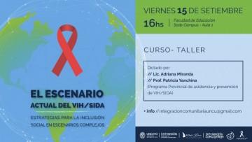 Abordarán estrategias para la inclusión social en el escenario actual del VIH/SIDA
