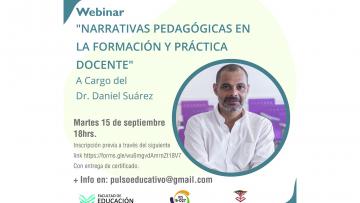 Abordarán las narrativas pedagógicas y la práctica docente en un seminario