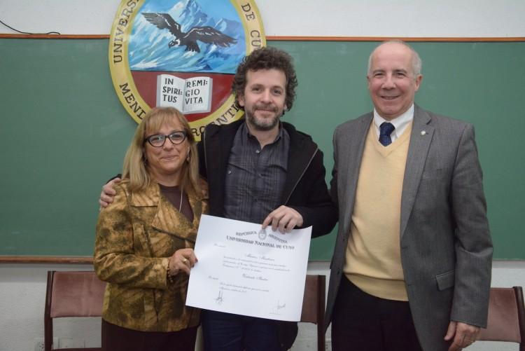 Director de Cine recibió un diploma de visitante ilustre de la UNCuyo