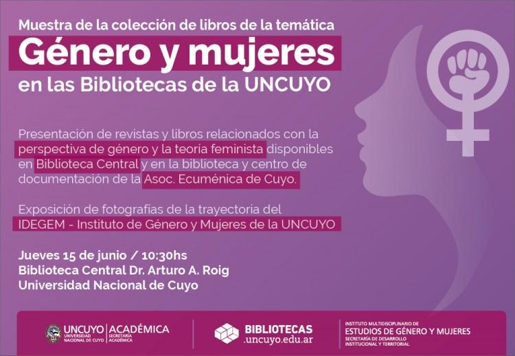 Exhibirán publicaciones sobre género y mujeres en la Biblioteca Central