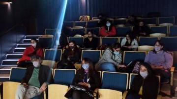 Tres espacios curriculares se trasladaron al cine para intercambiar ideas