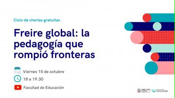 Continúa el ciclo de charlas gratuitas sobre la pedagogía de Paulo Freire