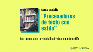 Ofrecen capacitación gratuita en procesadores de textos