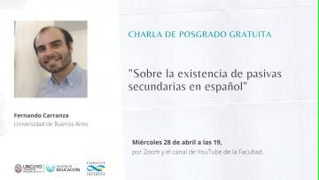 Abordarán las pasivas secundarias en español