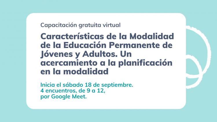 Educación de Jóvenes y Adultos será tema de un curso gratuito