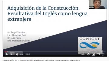 Disertaron sobre la adquisición de la construcción resultativa del Inglés como lengua extranjera