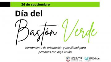 Se conmemora el día del Bastón Verde