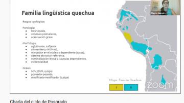 Características de quichua santiagueño fue la temática de una charla de posgrado