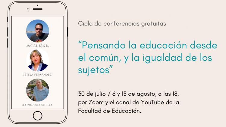 Continúa ciclo de charlas sobre experiencias educativas desde un equipo de investigación