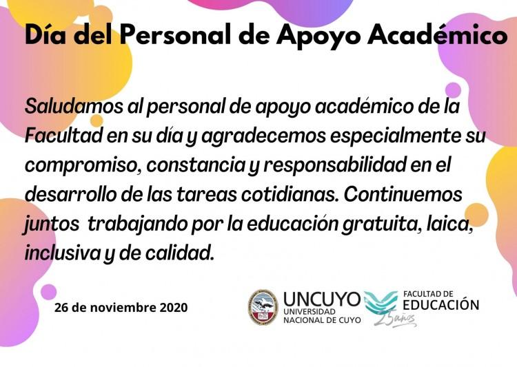 Día del Personal de Apoyo Académico